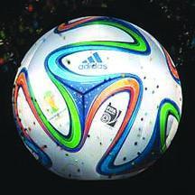 <!--:es-->Presentan el 'Brazuca', Balón del Mundial de 2014<!--:-->