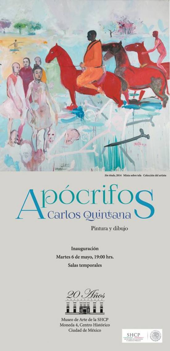 """El talentoso artista cubano Carlos Quintana, inaugurando su expo """"Apócrifos"""" en el Museo de la SHCP."""