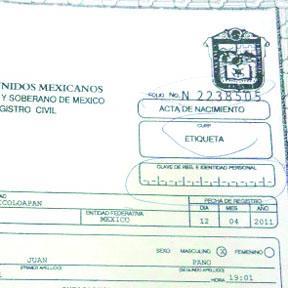 <!--:es-->Expide el Consulado Mexicano actas de Nacimiento<!--:-->
