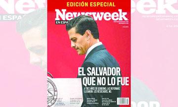 """<!--:es-->""""El salvador que no lo fue"""": portada de 'Newsweek' sobre fracaso de Peña<!--:-->"""