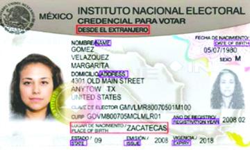 Mas de 43 mil mexicanos  en EEUU han solicitado su  credencial para votar en México