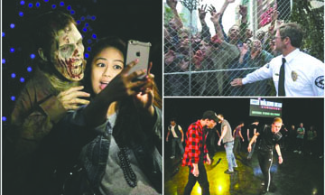 """Inauguran atracción """"The Walking Dead"""" en Hollywood"""