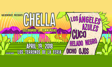 Goldenvoice Presenta 'Chella' Celebrando la Communidad con Los Ángeles Azules, Cuco Helado Negro & Ocho Ojos