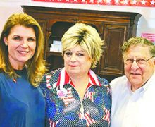 Kimberlin Brown Pelzer and Governor John Sununu visit the East Valley Republican Woman Federated