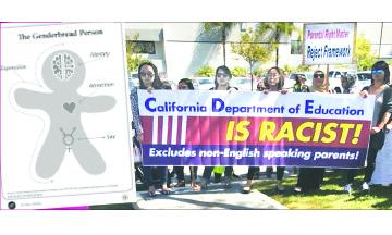 Padres y Maestros Protestan ante el Departamento de Educación de Orange County