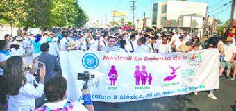 Miles de Mexicanos Marchan Por la Vida, la Familia y las Libertades de Religión, Educación, y Conciencia.