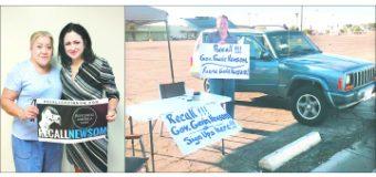 Cientos de ciudadanos del Valle de Imperial se Congregaron a Firmar la Petición para Retirar al Gobernador Gavin Newsom de su Cargo