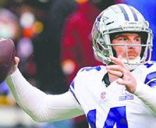 El quarterback Andy Dalton regresó a entrenar con los Cowboys