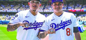 Con diamantes y zafiros, los Dodgers  reciben anillo conmemorativo de la  Serie Mundial