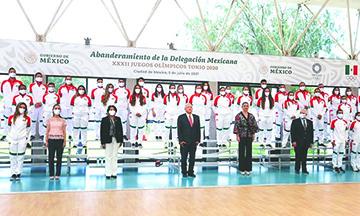 AMLO abandera a Delegación Mexicana previo a los Juegos Olímpicos de Tokio