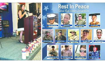 EVRWF Celebró una Vigilia en Honor a los 13 Soldados Caídos
